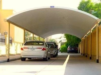fiberglass car parking shade