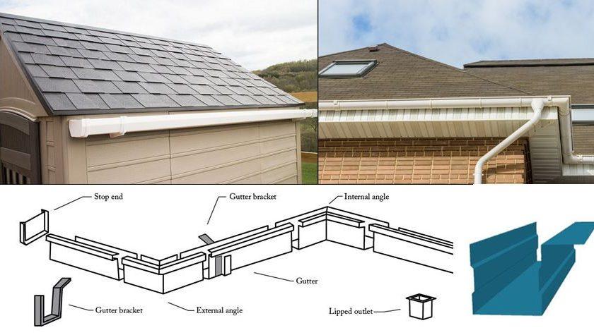 fiberglass roof rainwater gutters