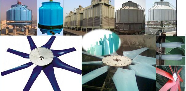 FRP cooling towers fan blades