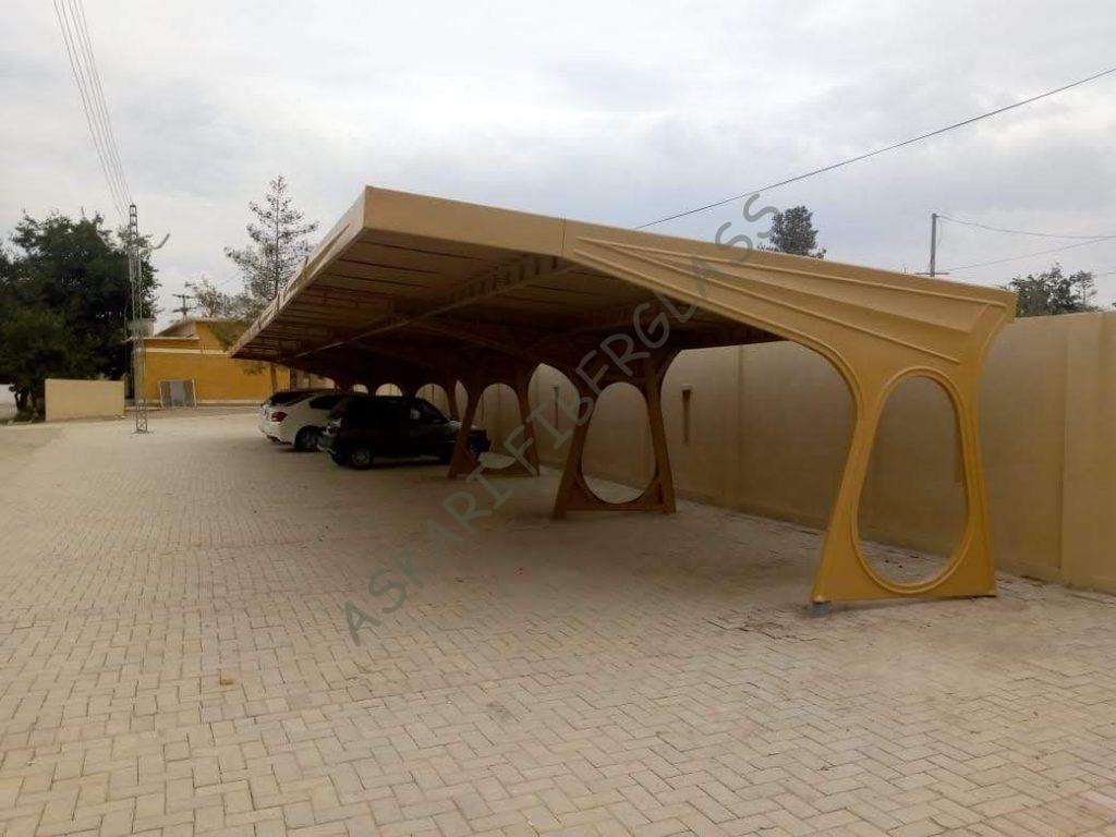 fiberglass car parking shade karachi quetta