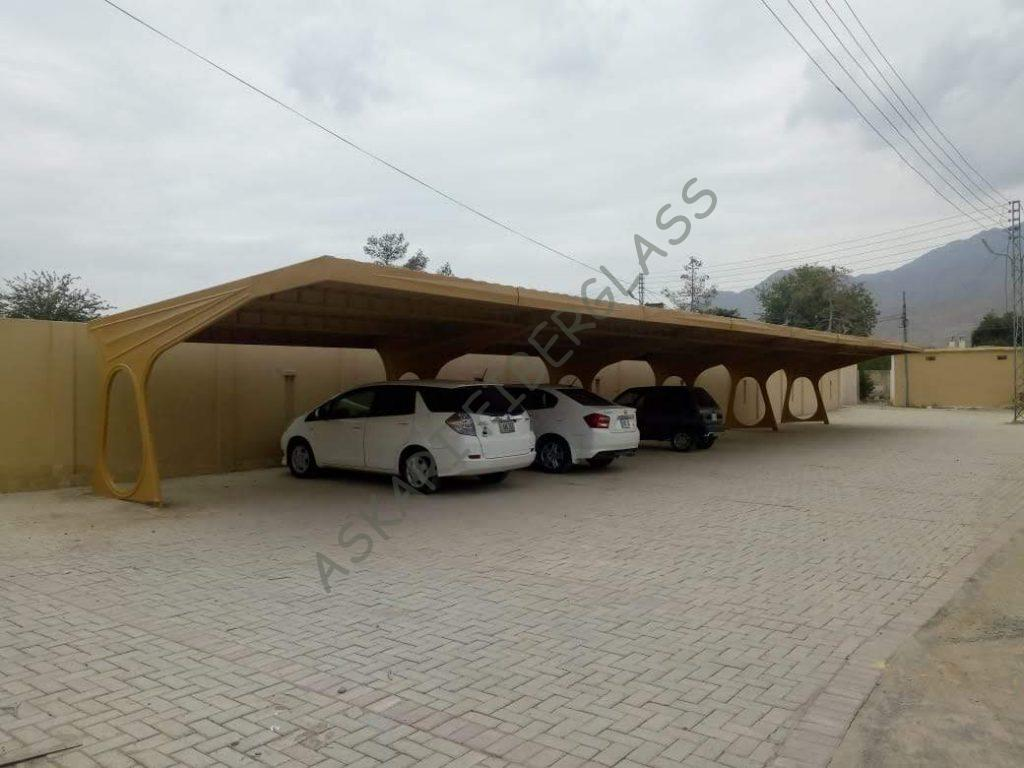 fiberglass car parking shed manufacturer karachi sukkur islamabad